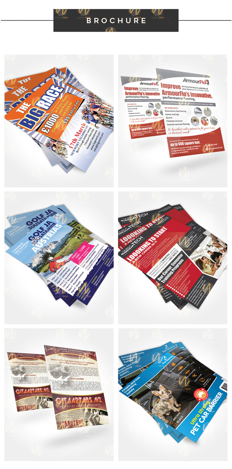 Creative brochure designs by Weblotech