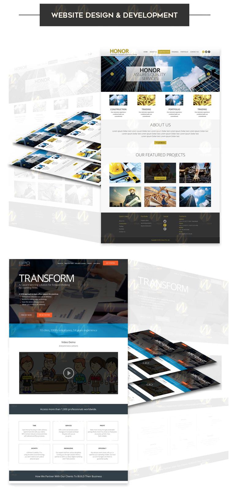 website design and development by weblotech an affordable web design agency